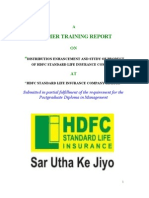 hdfc life insurance project report