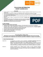 F StuNed Form -Short Course - Deadline 1 Mar 2014