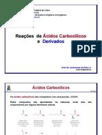 Reações de ácidos carboxílicos e derivados