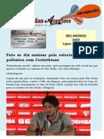 Pato se diz ansioso pela estreia e minimiza polêmica com Corinthians