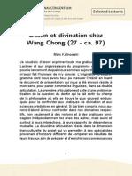 Kalinowski Marc (Destin Et Divination Chez Wang Chong)