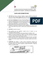 Lista de Exercícios para nota - 1º E - vf