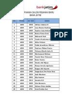 Daftar Calon Pegawai
