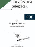 Dr.Stassik Ferenc - A volt határőrvidéki házközösségek