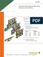Weidmuller Indicating Fuse Terminal Blocksscrew