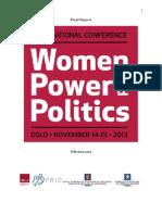 Women, Power and Politics 2013