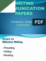 LECTURE 3 - Writing Effective Communiques