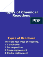 types of chemical reactions bju