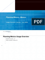 Planning México - Usage Report 2009