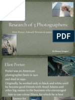 research of 3 photographers for narrative