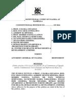 Uganda Anti Homosexuality Act Petition Final