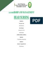 Head Nursing Frontpage