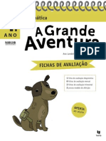 Fichas de Avaliação - A Grande Aventura - Matemática 4.º Ano