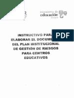Ejemplo de Plan Educativo