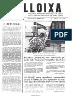 LLOIXA. Número 18, diciembre/desembre 1982. Butlletí informatiu de Sant Joan. Boletín informativo de Sant Joan. Autor