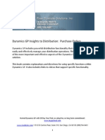 Dynamics GP Insights to Distribution - Purchase Orders