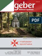 Ratgeber aus Ihrer Malteser-Apotheke – März 2014