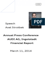 Axel Strotbek Annual Press Conference 2014