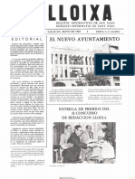 LLOIXA. Número 23, mayo/maig 1983. Butlletí informatiu de Sant Joan. Boletín informativo de Sant Joan. Autor