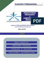 """Diapositivas presentación """"Tic Educacion y Pedagogía"""" Alianza Francesa 2014"""