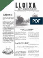 LLOIXA. Número 24, junio/juny 1983. Butlletí informatiu de Sant Joan. Boletín informativo de Sant Joan. Autor