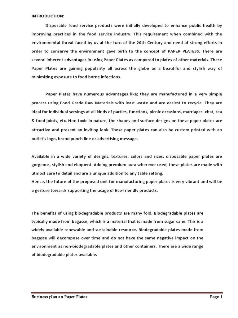 sc 1 st  Scribd & Paper Plate Final | Swot Analysis | Financial Ratio