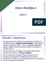 Algoritmike - 2011 - Leksion 5- Algoritmet e Renditjes 2
