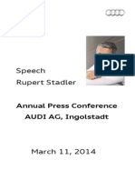 Rupert Stadler - Annual Press Conference 2014