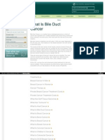Bile Duct Cancer Page