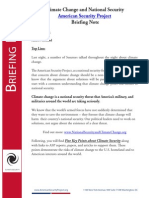 Briefing Note - Climate Change and National Security March 2014
