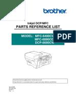 Dcp 6690 Mfc 6490cw Parts