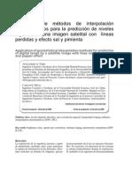 Metodo Interpolacion Geoestadisticos Para La Prediccion Niveles Digitales Imagen Satelital