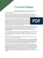 History of Concrete Bridges
