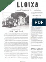 LLOIXA. Número 30,diciembre/desembre 1983. Butlletí informatiu de Sant Joan. Boletín informativo de Sant Joan. Autor