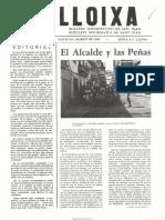 LLOIXA. Número 33, marzo/març 1984. Butlletí informatiu de Sant Joan. Boletín informativo de Sant Joan. Autor