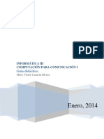 Guia Didactica Informatica III - Computacion Para La Comunicacion i