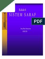 Kuliah 6 - Sistem Saraf