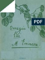 Mihai Eminescu OMAGIU 1934