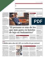 Peruano gasta más en hoteles de lujo