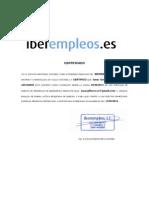 Iberempleo Certificado Busqueda Activa
