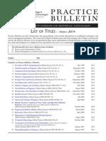 Listado de Boletines Practicos de La ACOG