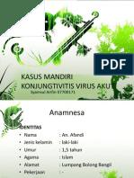 KASUS MANDIRI KONJUNGTIVITIS VIRUS AKUT.pptx