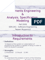 Req. Engg. Spec. Analysis. Model.