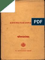 Abhinaya Darpanam - Manmohan Ghose