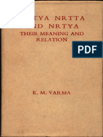 Natya Nrtta and Nrtya Their Meaning and Relation - K. M. Varma