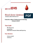 SRS-Blood Donor Central Database and Web