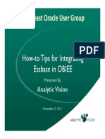 Vlahos - HJw-To Tips for Integrating Essbase Into OBIEE - SEOUG 2011
