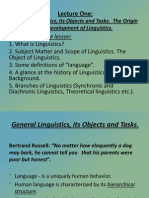 Lecture 1 General Linguistics Its Objects...