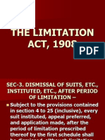 The Limitation Act, 1908
