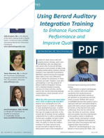 Using Berard Auditory Integration Training to Enhance Functional Performance and Improve Quality of Life